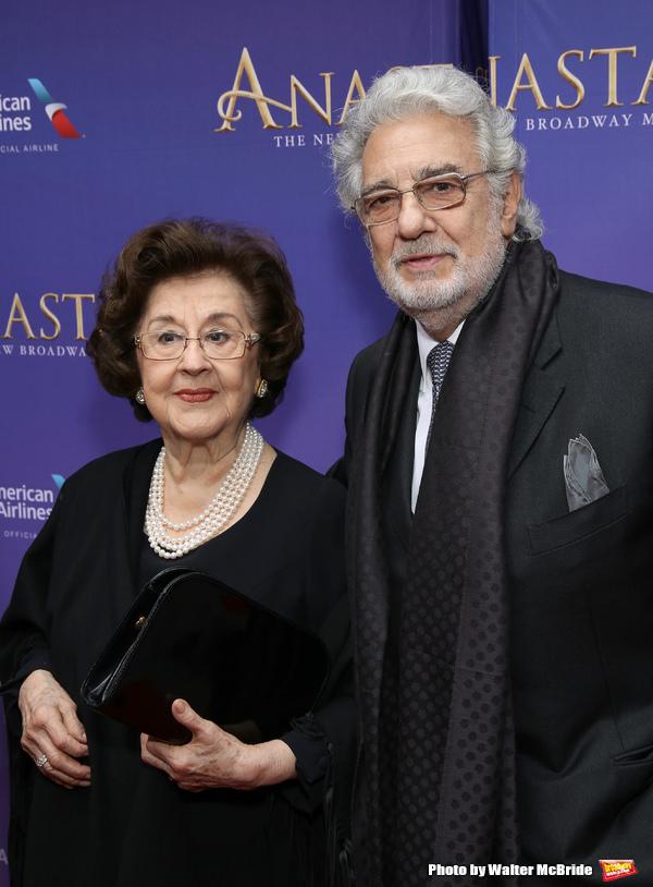 пласидо с женой мартой